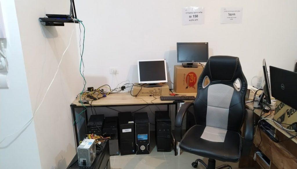 חנות מחשבים בדירה שכורה