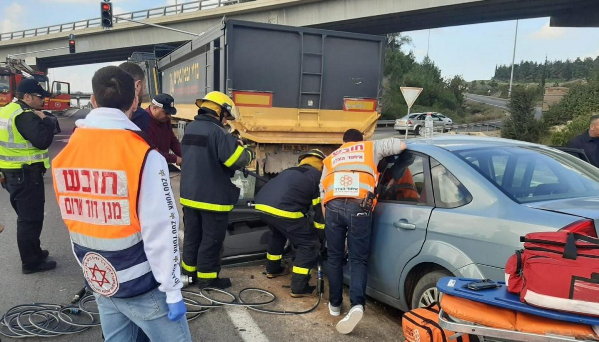 צומת עירון תאונת דרכים איחוד הצלה