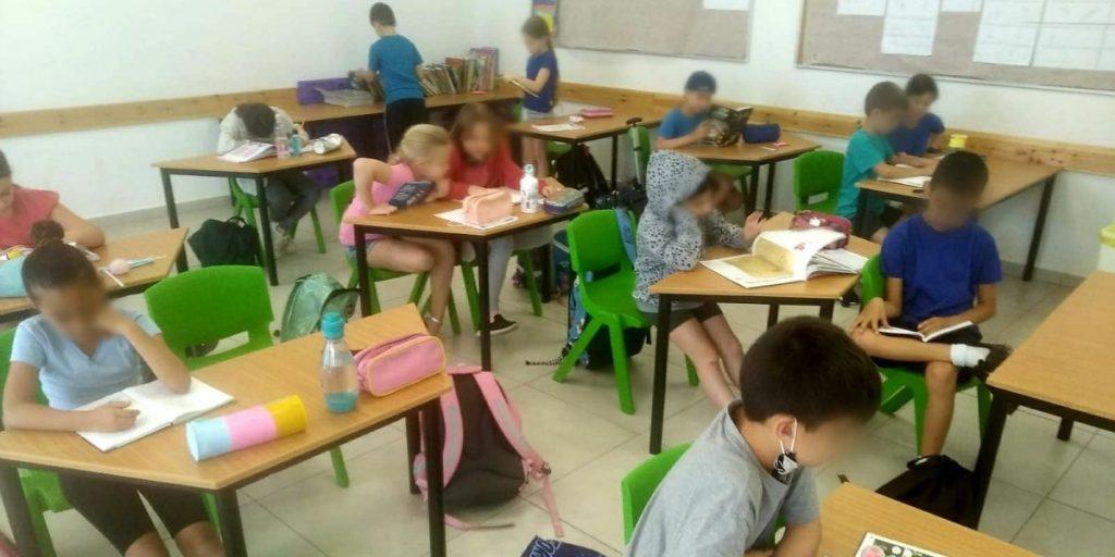תלמידים בית ספר רונה רמון צילום דוברות העירייה