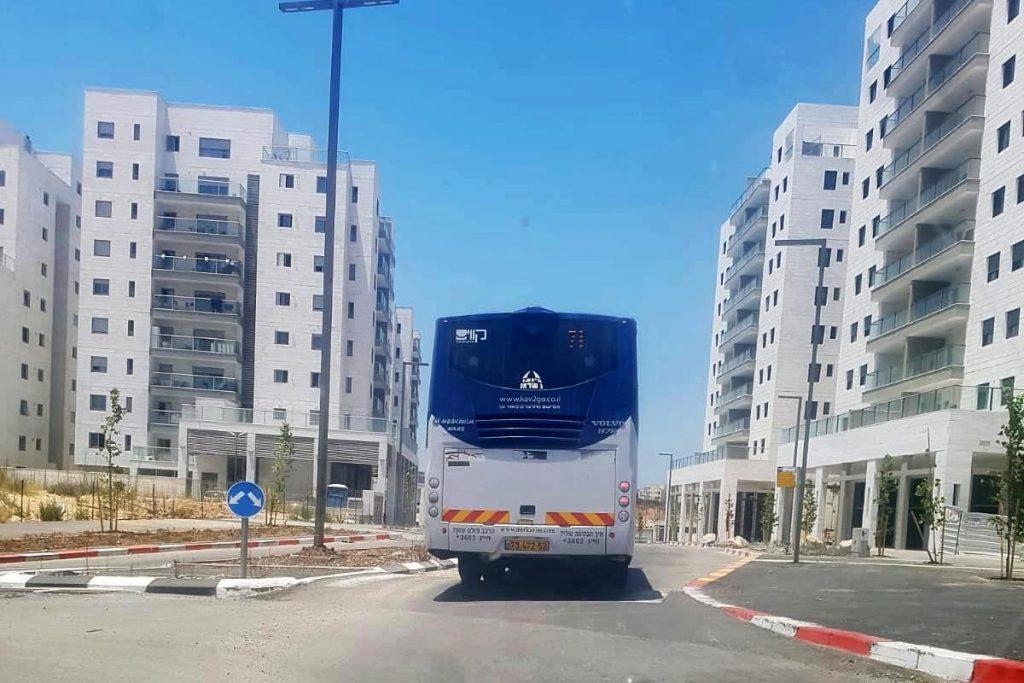 """תחבורה ציבורית אוטובוס במעו""""ף צילום: דניאל שחר"""