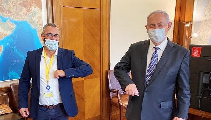 ראש הממשלה בנימין נתניהו ויצחק קשת ראש העיר חריש