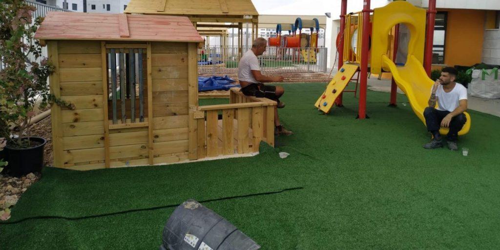 עבודות בגני הילדים במעוף