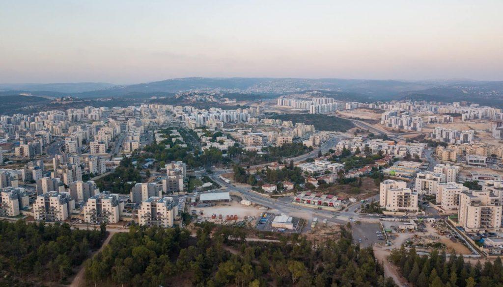 שכונת החורש צילום מהאוויר