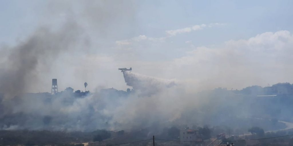 שריפת חורש באום אל קוטוף (1)