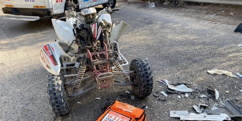 תאונת דרכים משאית טרקטורון