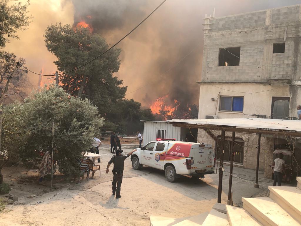 שריפה בסמוך לכפר קרע וערערה