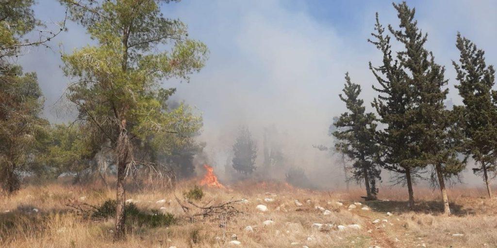 שריפה מול רחוב יקינטון