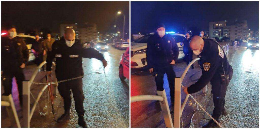 המשטרה הסירה חסימת כבישים בחריש
