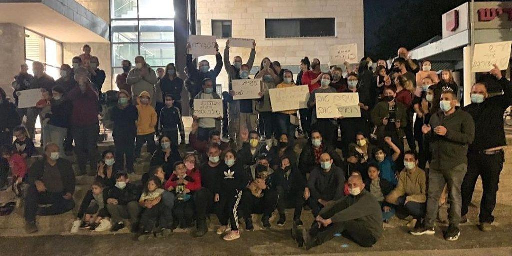 הפגנה על המרחב הציבורי צילום: עמוד הפייסבוק של חילונים בוחרים בחריש