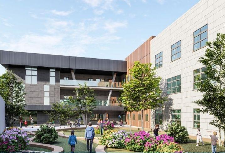 הדמיית התיכון החדש בשכונת אבני חן; הדמיה: EDI