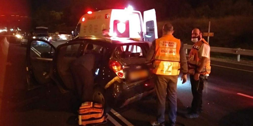 """תאונת דרכים איחוד הצלה צומת מג""""ב"""