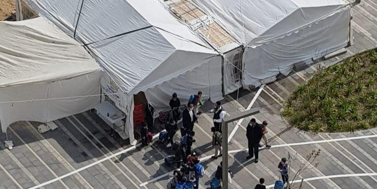 """אוהל התפילה של קהילת 'אור ישראל' בשכונת מעו""""ף"""