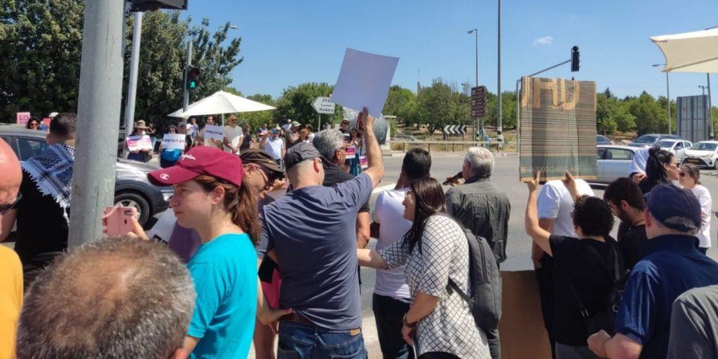 הפגנה מבצע שומר החומות, צומת מגב אורן שפילמן
