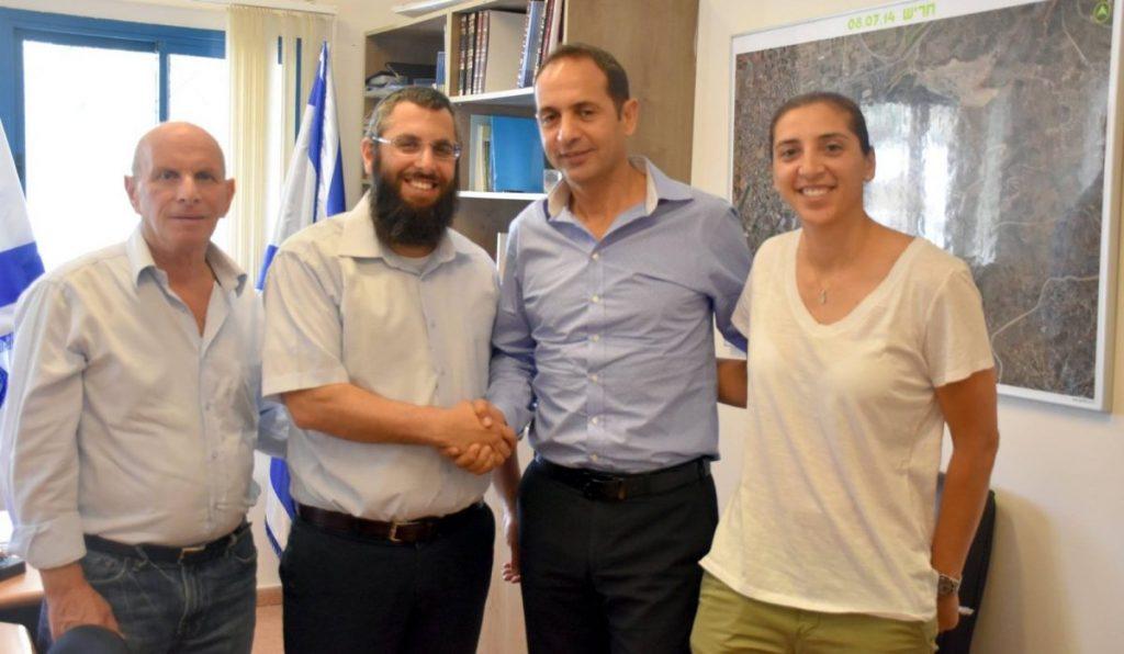 נאור גלילי מכבי ישראל עם יצחק קשת 2016
