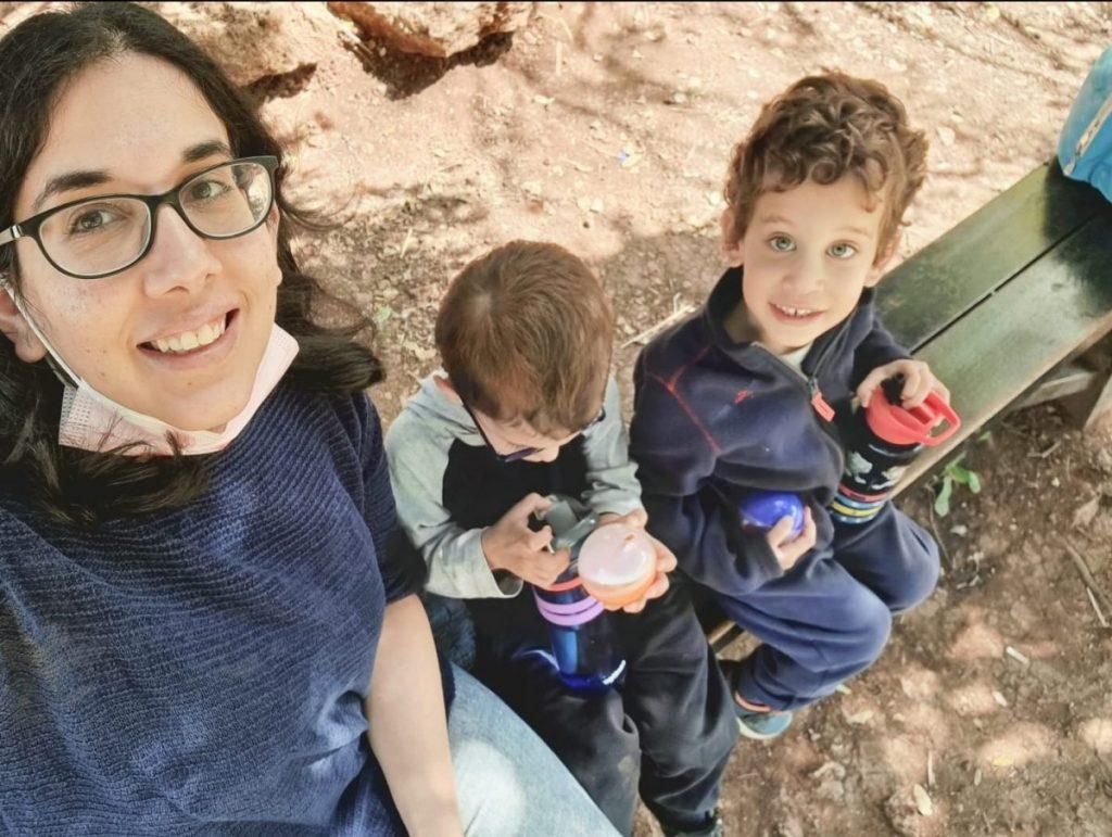 עדי בקר ובנה רהב בן 4