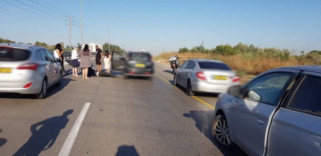 תאונת דרכים  בסמוך לברקאי