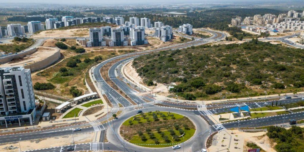 כיכר הזיתים, פארק מרכזי כביש חדש לשכונת הפרחים צילום מור שקיפי לאטי (1)