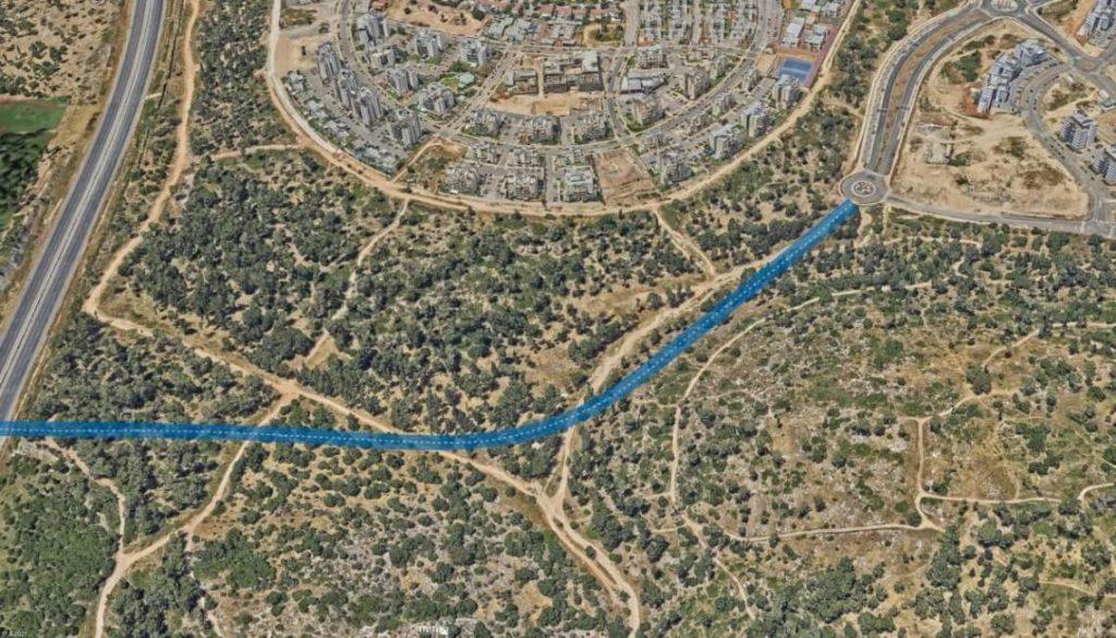 מסלול כביש הגישה הדרומי 611