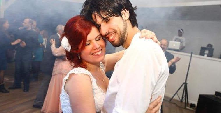 ולדי וחן רזניק-מורן ביום חתונתם